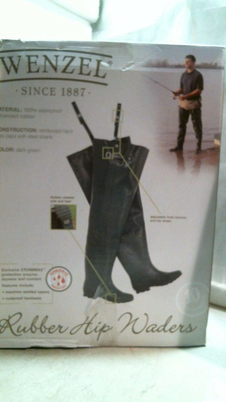Wenzel 703109 Hip Waders, Size 10, Stormax, FREE SHIPPING