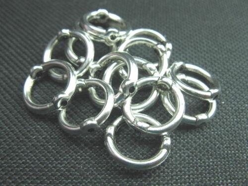 15 abalorios acrílico anillos m agujero 14mm perlas 2842