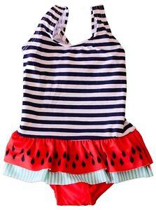 sito affidabile 504a4 e9ac1 Dettagli su costume da bagno intero neonata bambina estate mare piscina  rigato tg.12/36 mesi
