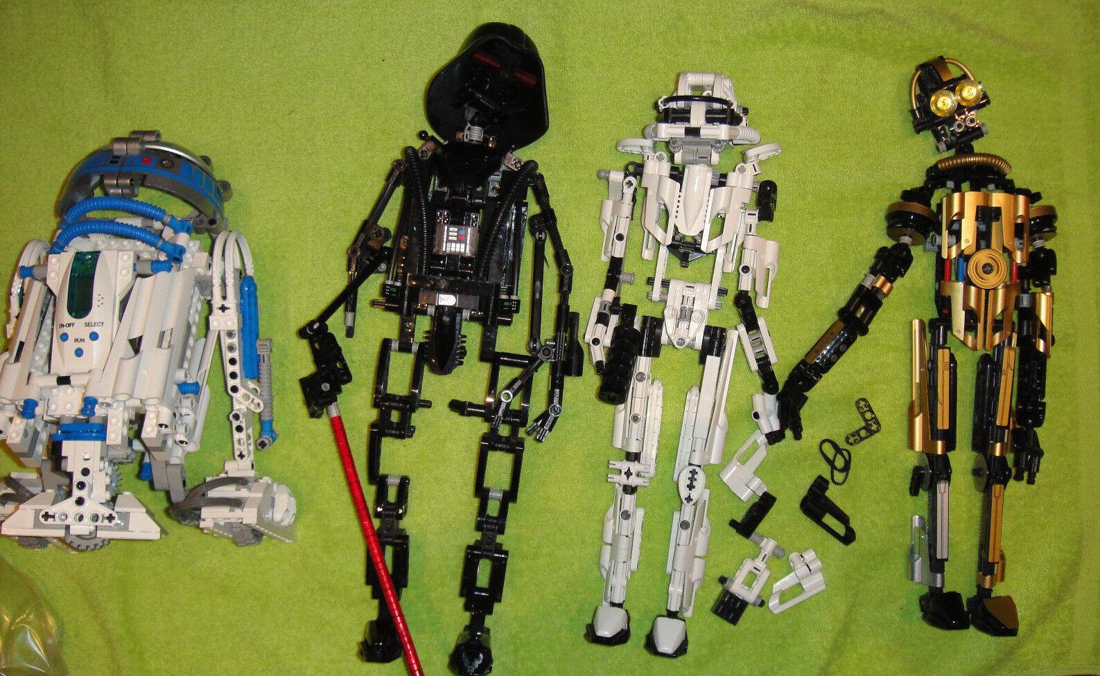 Lego Star Wars R2D2 8009 Darth Vader 8010 Storm Trooper 8008 8007 C-3PO Konvolut