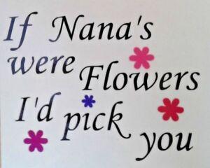 Se-NONNA-erano-Flowers-avrei-prendervi-Adesivo-Vinile-le-madri-GIORNO-VINO-BICCHIERE-TAZZA