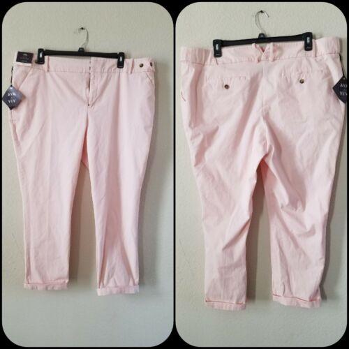 AVA /& VIV Women/'s PLUS SIZE 18W Ankle Pants***oft Peach*Pockets**Stylish*NWT**