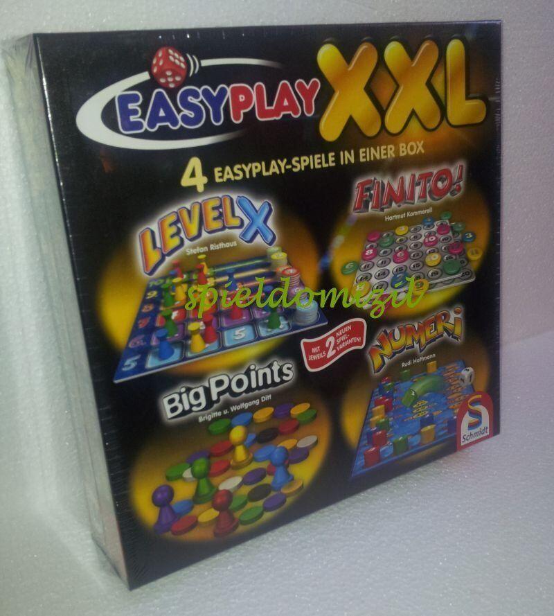 EASY PLAY XXL  4 Spiele Box  LEVEL X + Finito + BIG POINTS + Numeri  RAR + TOP