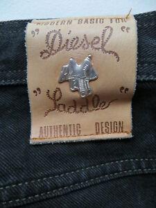 Diesel-Saddle-Jeans-Hose-W-32-L-30-Silber-Sattel-weiter-Oberschenkel-KULT