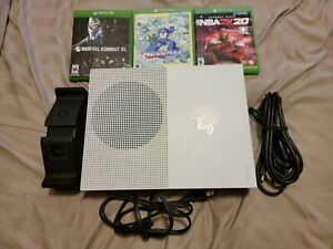 Microsoft Xbox One S 500GB White Console With 3 Games (No Controllers)