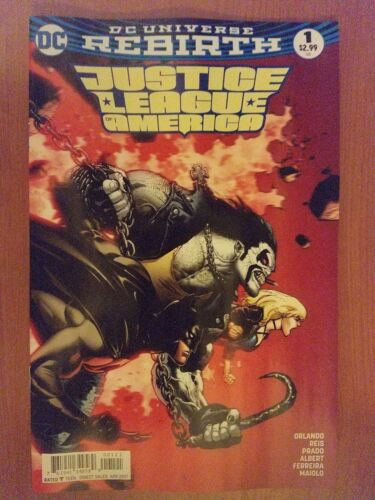 Justice League of America # 1 DC Rebirth 1st Print Mark Brooks Variant