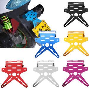 Aluminum-Alloy-Universal-Motorcycle-License-Plate-Holder-Mount-Bracket-plLDUK