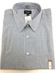 29d2237c3cc Mens Haggar Dress Shirt Long Sleeve White w Blue Stripes Brand New ...