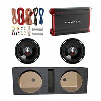 Crunch 1800w Amplifier + 12 2300w Subwoofer (2 Pack) + Enclosure Box + Wiring on sale