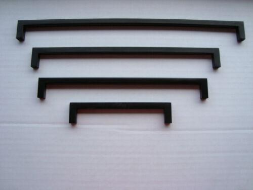 Poignée étrier acier noir-mat 9 x 9mm différentes longueurs de meuble poignées