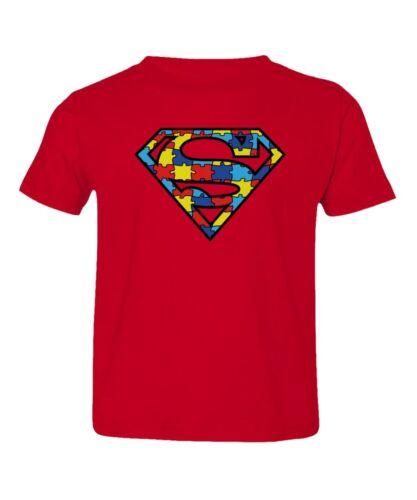 Autism Awareness Pride Superman Hero Kids Toddler T-Shirt