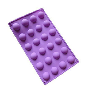 Silicone-Mould-24-Small-1-034-Semi-Circle-Half-Spheres-Balls-Cake-Pops-Chocolates