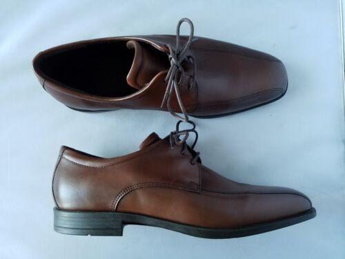 Mocassin Marron Neuf Pour Clair Véritable Ecco Robe Lacet Homme Chaussures Cuir 4BIWn7zqA