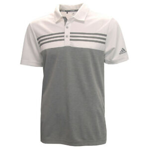 Adidas Golf Men's Drive Heather Block Polo Golf Shirt,  Brand New