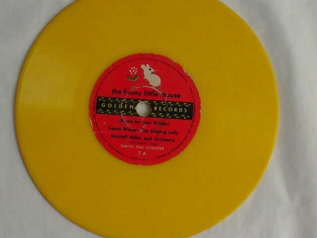 Kiddie Record 6 inch 78rpm  Golden Records #7 The Funny Little Mouse