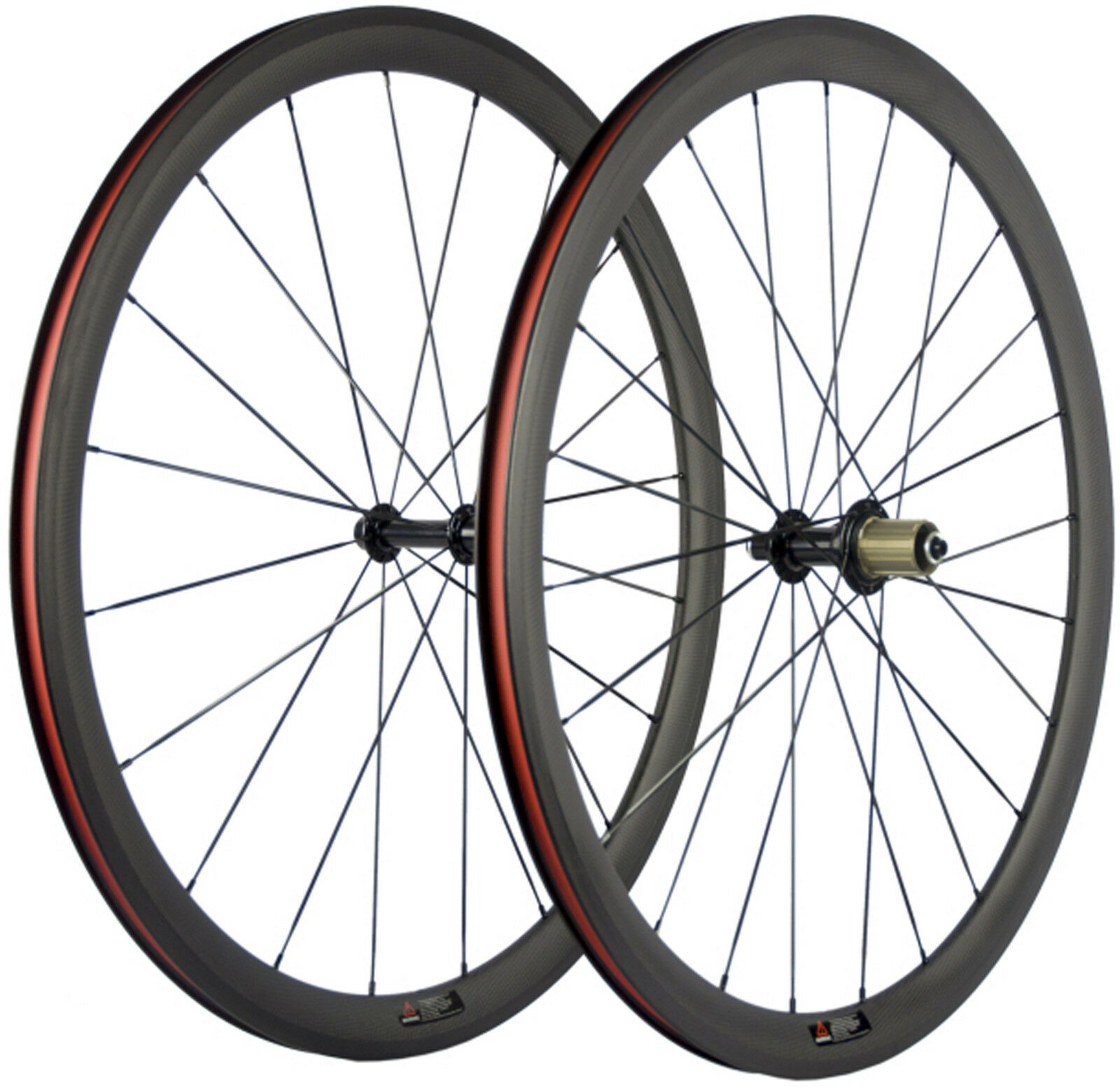 38mm Clincher Carbon Wheels Road Bike Wheelset Powerway R13 Hub Bicycle Wheelset