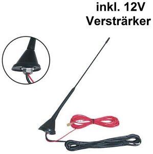 Universal-Auto-KFZ-16-V-Dachantenne-Antenne-mit-Verstaerker-DIN-mit-ca-5m-Kabel