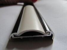 """24 Ft. WHITE RV Motorhome Vinyl 7/8"""" Flat Insert Trim Mold Flexible Screw Cover"""