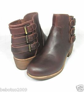 f939cfc9a6a80 NEW WOMEN UGG AUSTRALIA BOOT VOLTA CHESTNUT LEATHER WATER RESISTANT ...
