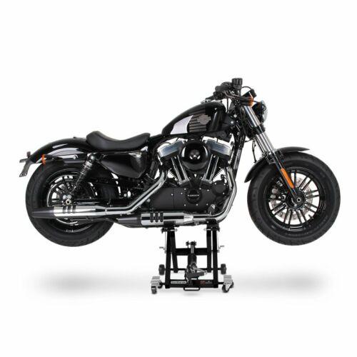 Motorcycle Scissor Lift XL for Harley Davidson Sportster 1200 Custom black