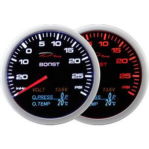 Details about DEPO 60mm Boost Turbo volt oil pressure oil temperature gauge  4 in 1 PSI & C