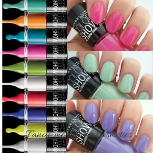 MAYBELLINE COLOR SHOW 60 Seconds NAIL POLISH VARNISH *NEW* Free POST ...