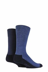 Mens-2-Pair-Levis-168LS-Plain-Cushioned-Crew-Socks