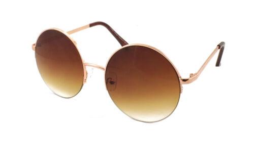 Verspiegelte Linse Retro Lenon Stil Sonnenbrille Metallrahmen Rund Blitz Kreis