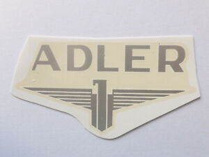 Automobilia Adler Schriftzug Wasserabziehbild Abziehbild 82x42mm 01100a Silber Rand Weiß Niedriger Preis
