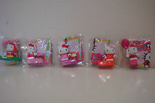 LOT OF 5 HELLO KITTY MEGA BLOKS FIGURES (NEW IN OPEN CLEAR BAG)