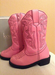 Girls Koala Kids Toddler Cowgirl Boots Size 9 Midcalf Pink Slip-On ...