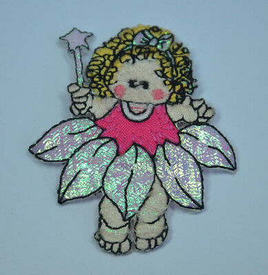 FAIRY WAND GODMOTHER ANGEL  Embroidered Iron Sew On Cloth Patch Badge  APPLIQUE
