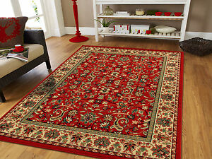 Red-Traditional-Oriental-Medallion-8x10-Area-Rug-Carpet-2x3-Mat-5x7-Rugs