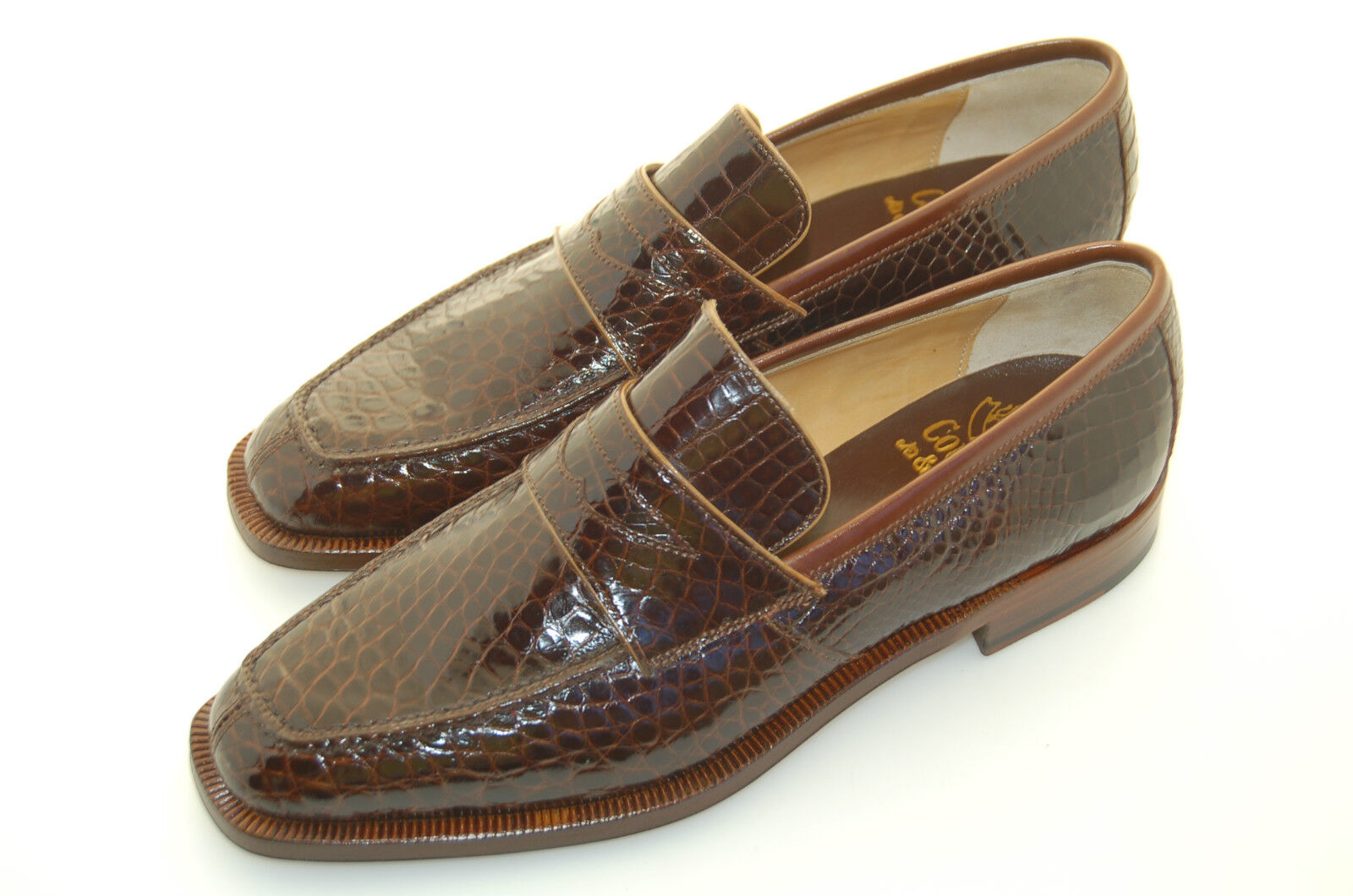WOMAN - 36½ - STITCHED 6USA - PENNY LOAFER STITCHED - VAMP - GENIUNE ALLIGATOR - LTH SOLE 267125