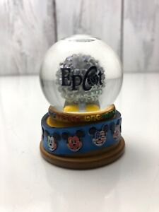 Rare-DISNEY-WORLD-EPCOT-SPACESHIP-EARTH-Miniature-SNOW-GLOBE-Good-Used-Condition