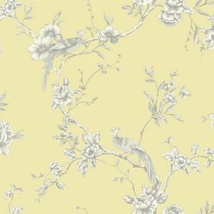 Grey and yellow flower wallpaper
