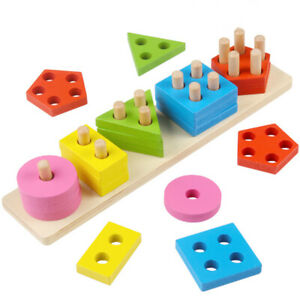 Toddler toys for 1 2 3 4-5 year old boys girls Wooden educational preschool