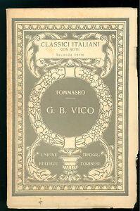 TOMMASEO-G-B-VICO-UTET-1930-CLASSICI-ITALIANI-59-FILOSOFIA