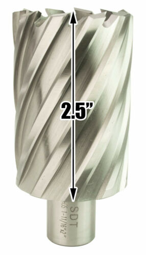 "Steel Dragon Tools® 1-11//16/"" x 2/"" HSS Annular Cutter with 3//4/"" Weldon Shank"