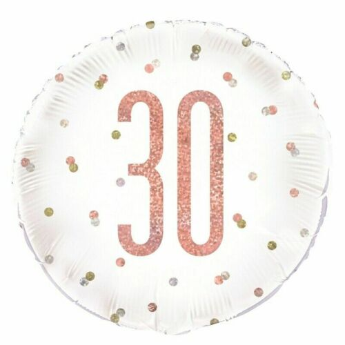 Happy 30th Birthday Party Supplies Decorations *NEW ROSE GOLD GLITZ* Age 30