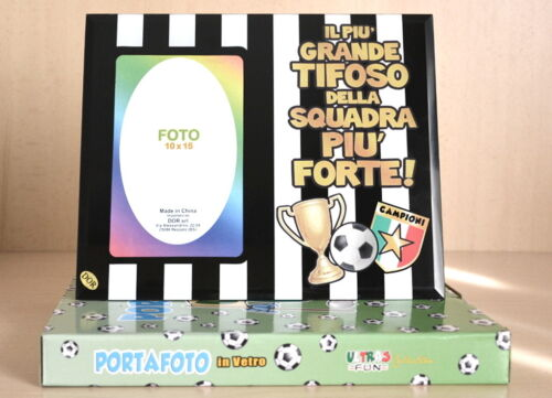 Portafoto in Vetro 10x15 Inter//Juventus//Milan Accessori Squadre di Calcio