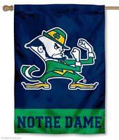 Notre Dame House Flag Leprechaun Logo, New, Free Shipping on Sale