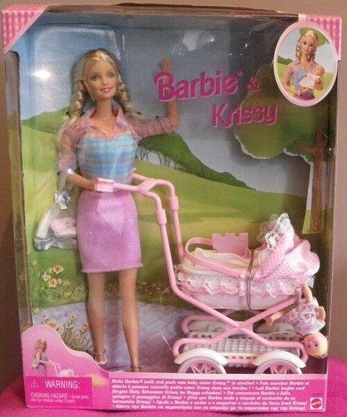Barbie WALKING KRISSY balade maman bébé poussette 1999 Mattel 22232 poupee DOLL
