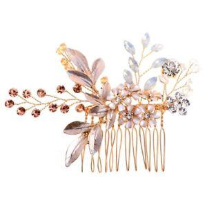Bridal-Rhinestone-Headwear-Bridesmaid-Hair-Comb-Flower-Tiara-Wedding-Accessory