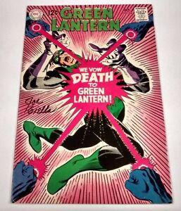 Green Lantern #64 Signed by Joe Giella w/ COA! VF- SILVER AGE DC COMICS 1968
