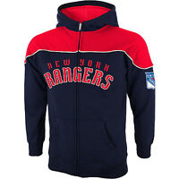 Reebok York Rangers Face Off Collection Full Zip Track Hooded Jacket
