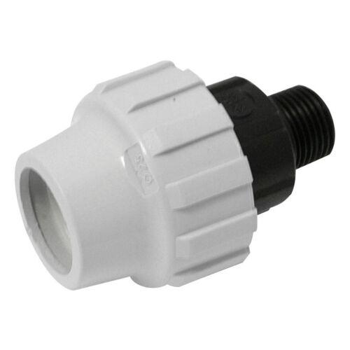 """NEW 4 x plumbing MDPE Male BSP Adaptor 25mm x 3//4/"""" Each FreePost.UK Seller"""