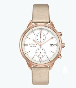 Citizen-Eco-Drive-Women-039-s-Chandler-Chronograph-Leather-39mm-Watch-FB2003-05A