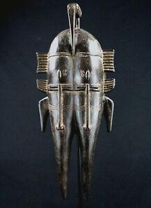 Arte Africano - Extraordinaire Maschera Djimini Ligbi Uccello Doppia No Senufo