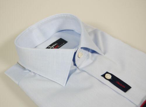 Celeste xl Camicia Cottonstir No Slim Fit Stiro Mezzo Ingram Francese Collo 44 qggIwax4C